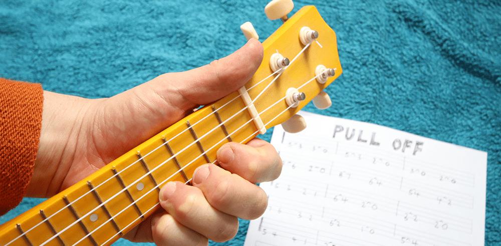 ukulele pull off