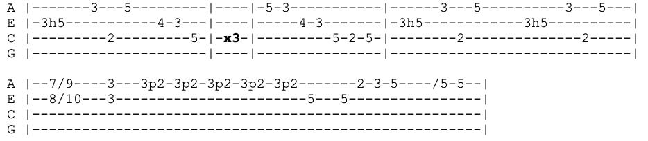 pearl jam - even flow - ukulele tabs