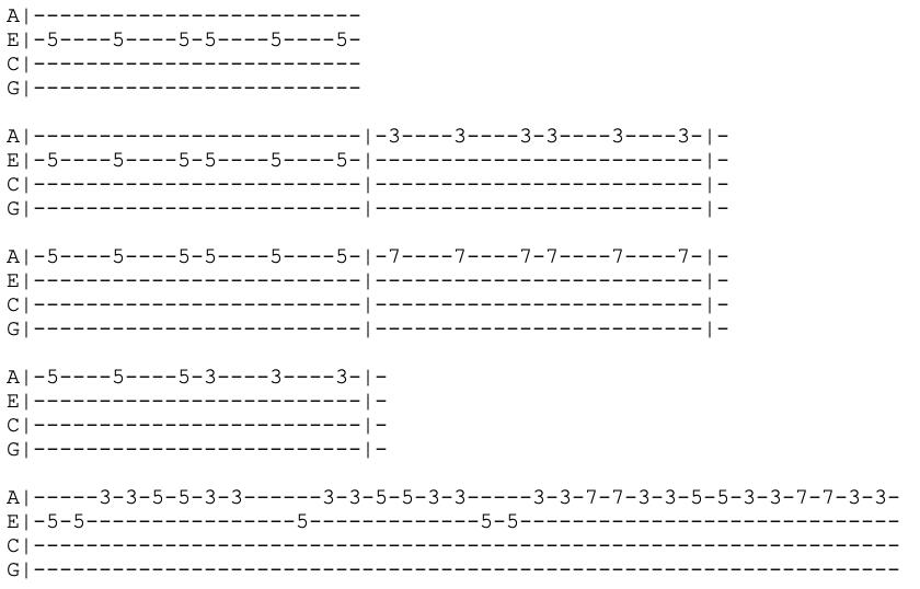the xx - intro - ukulele tab