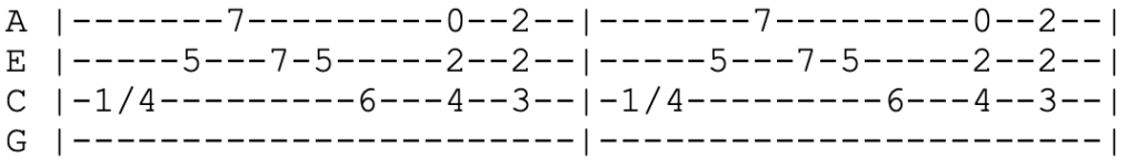 oasis - supersonic - ukulele tabs