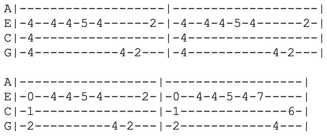 blink 182 - ukulele tabs - dumpweed