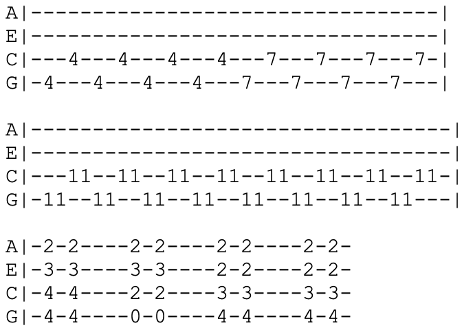 green day - ukulele tabs - reject