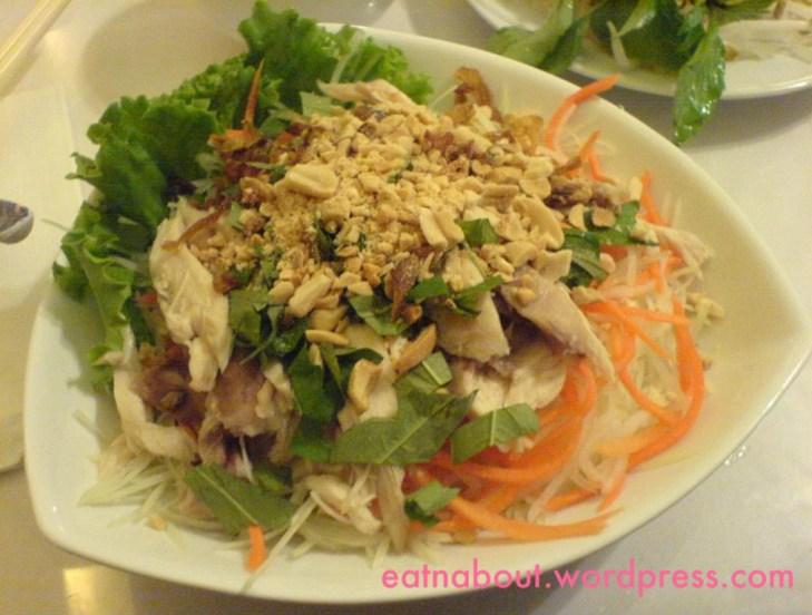 Green Lemongrass Vietnamese: Green Papaya Salad with chicken