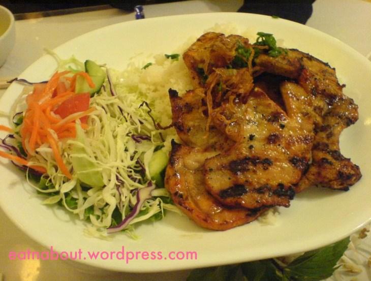 Green Lemongrass Vietnamese: Lemongrass Porkchop with rice