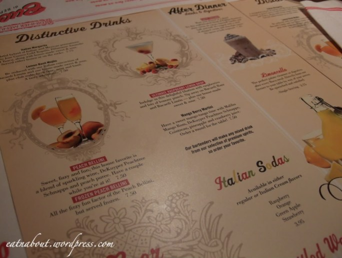 Buca di BEPPO drinks menu