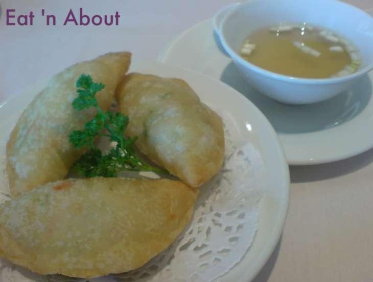 Kirin Restaurant: Deep fried Prawn Dumpling with Consomme