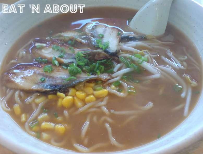 Ikkyu Ramen Ten: Unagi Ramen in regular miso soup