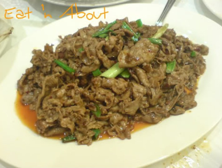 S & W Pepper House: Stir-fried Lamb with Cumin