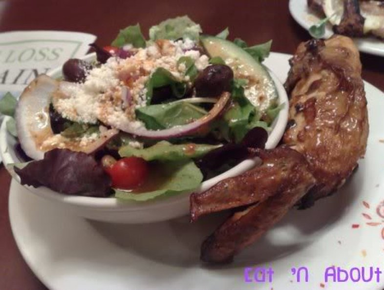 Nando's Flame-grilled Chicken: quarter chicken with salad