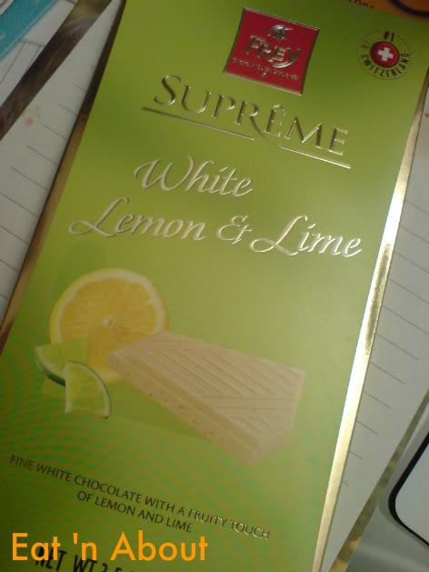 Frey Chocolate: White Lemon and Lime