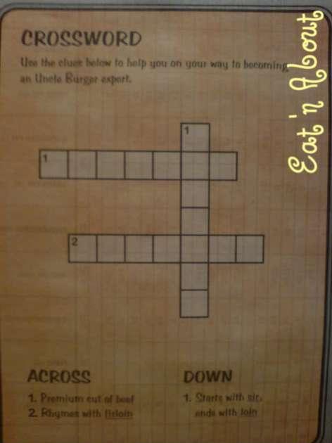 A&W Uncle burger puzzle