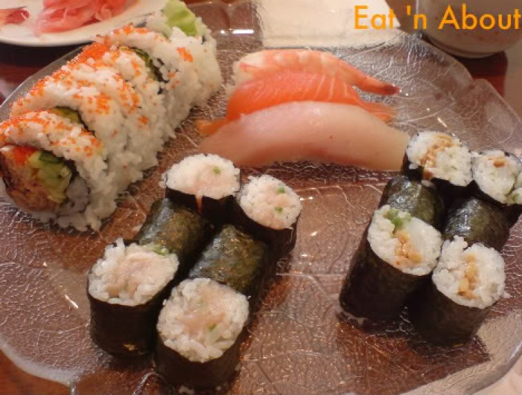 Sushi House: B.C. Combo with Ika and Natto roll
