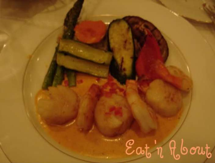 The William Tell: Sauteed Sea Scallops and Prawns