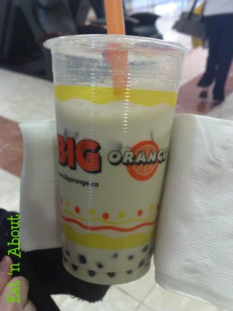Big Orange Bubble Tea