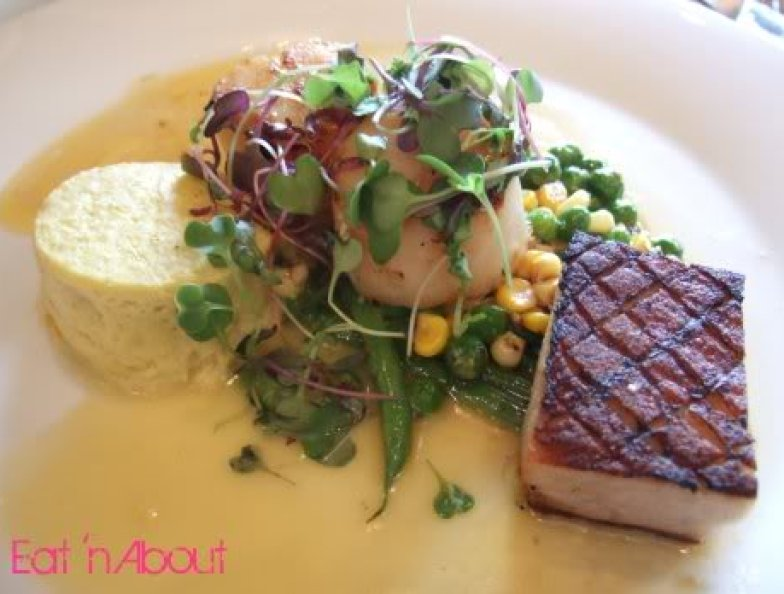 Zin Restaurant Lounge: Sea Scallops and Pork Belly