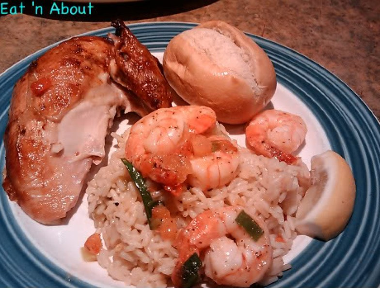 Swiss Chalet: Quarter Chicken with Shrimp special