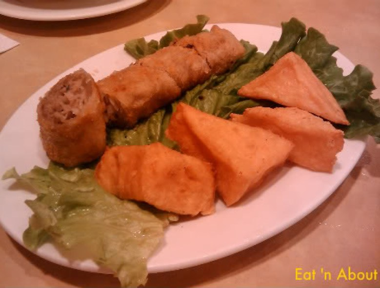 West Lake Vietnamese: spring rolls and shrimp tofu