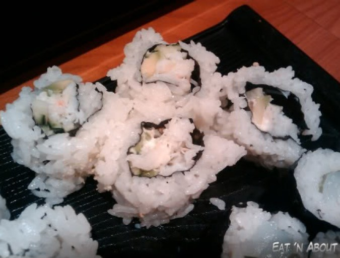 Sushi Hachi: California Roll with real crab meat