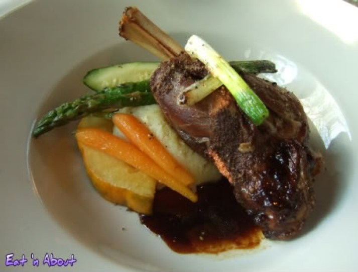 Seasons in the Park: Moroccan Spiced Lamb Shank with a dried apricot demi-glace and grilled scallions