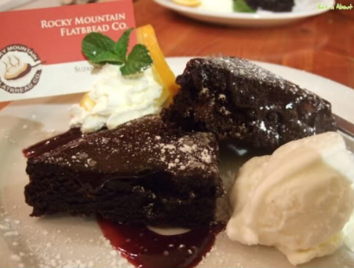 Rocky Mountain Flatbread Co: Warm Double Chocolate Brownies with Ice Cream