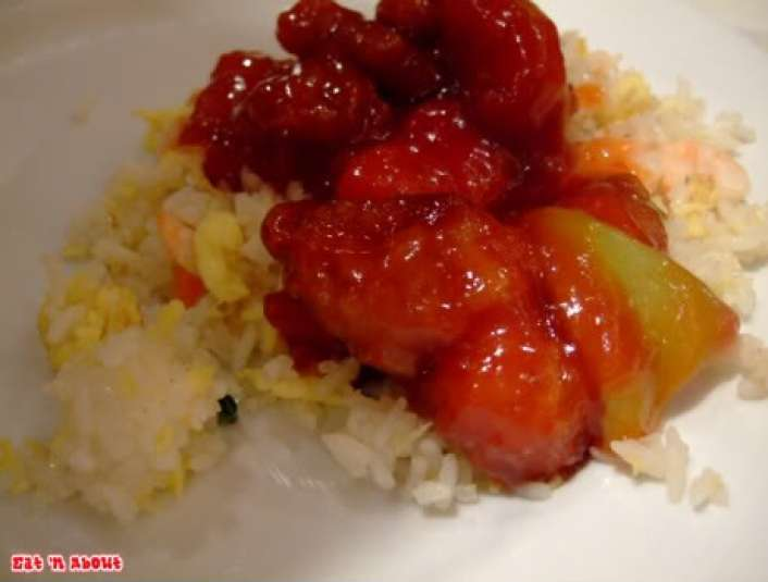 Falls Buffet: Sweet & Sour pork and fried rice