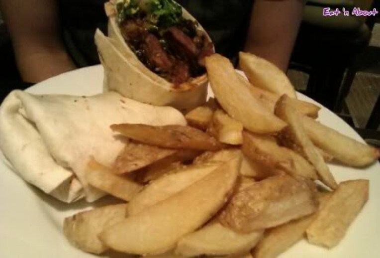 Eh! Restaurant: Steak and Mushroom Wrap