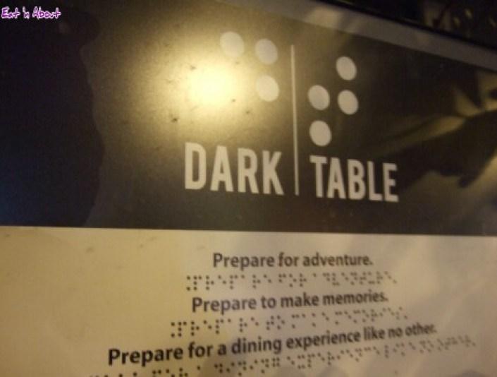 Dark Table sign