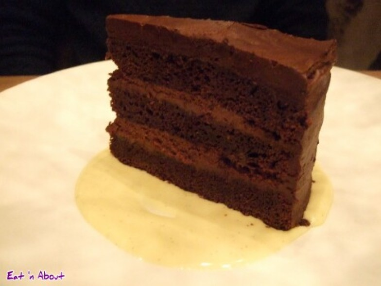 Chop Steakhouse: Chocolate Cake with Chocolate Fudge Butter Cream