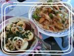 Home-cooking Recipe: Stir fried Veggies with Mochi Fishcake; Steamed Egg Tofu