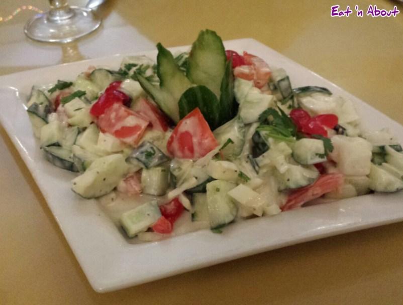 Lazymeal Mashup at Handi Cuisine of India Burnaby: Cucumber Salad