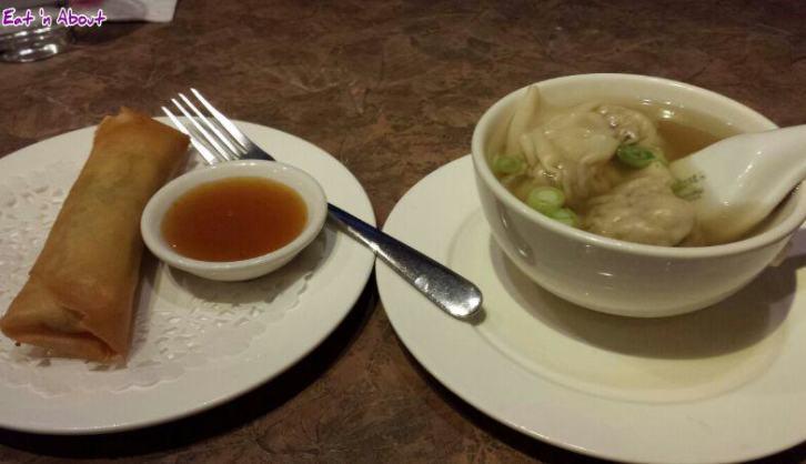 Mr. Ho Wonton House: Egg roll & Wonton Soup