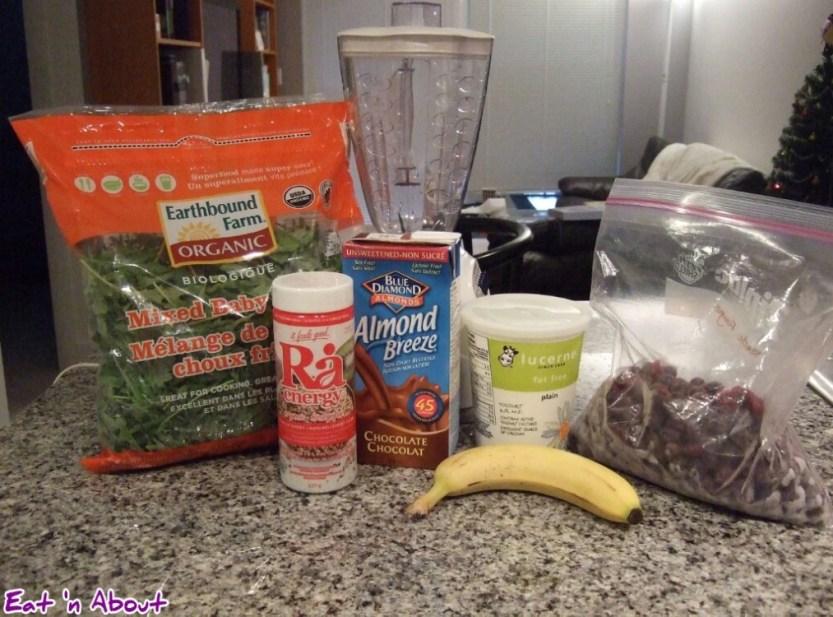 Healthy Breakfast Smoothie ingredients