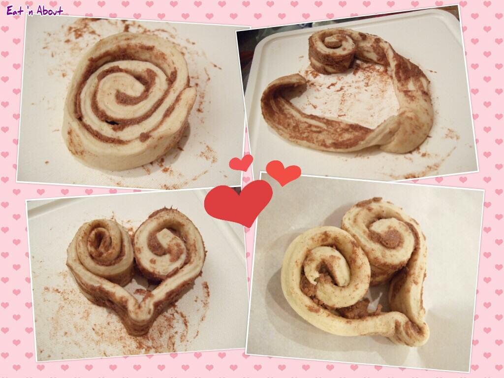 Heart cinnamon rolls instructions