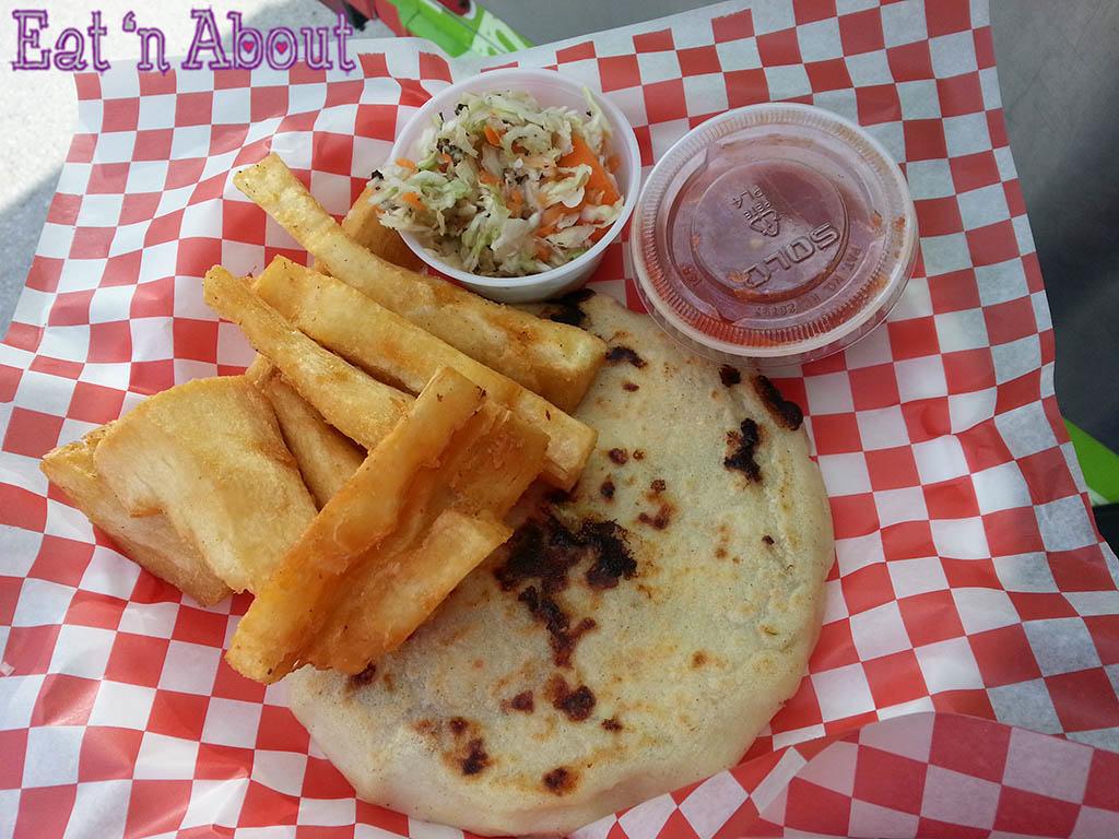 Guanaco - Chicharron Pupusa Platter