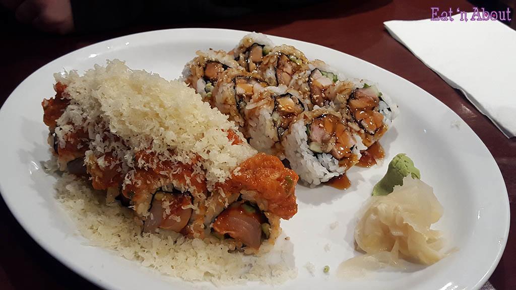 Sushi California Coquitlam - Double Spicy Tuna Roll and Chicken Teriyaki Roll