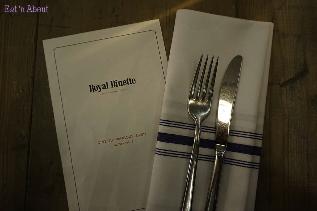 Royal Dinette Dine Out Vancouver 2017