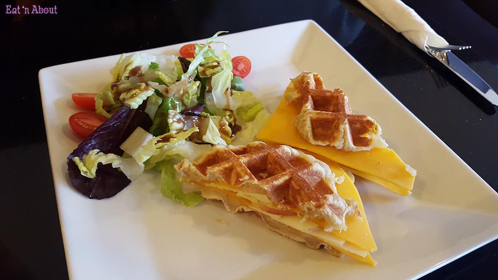 Waffle Gone Wild - Fresh Apple & Cheese Waffle