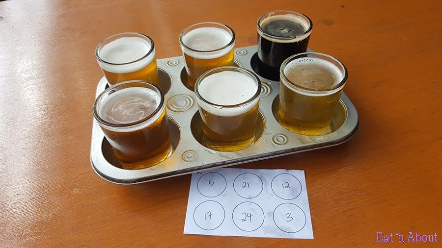 Maui Brewing Company flight