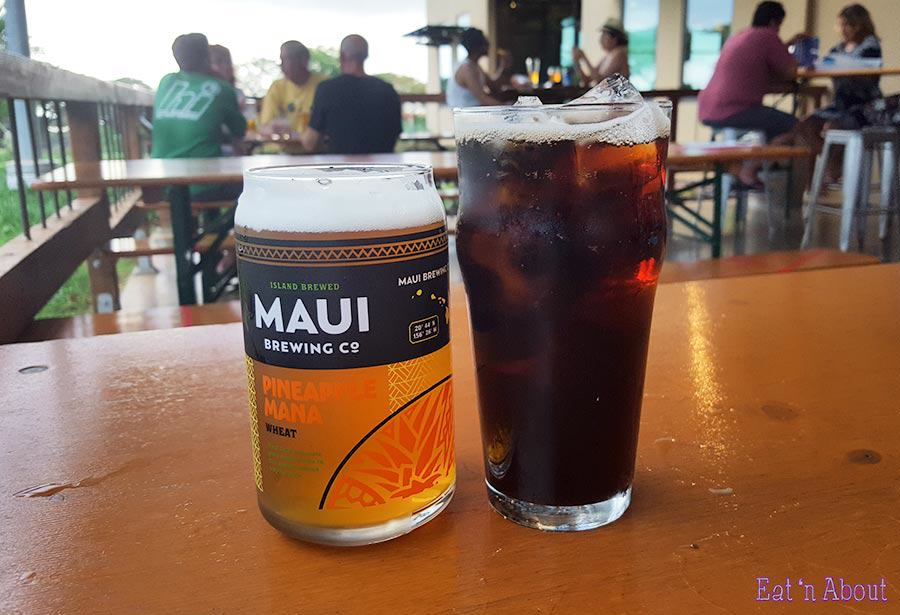 Maui Brewing Company - Can glass & Island Root Beer