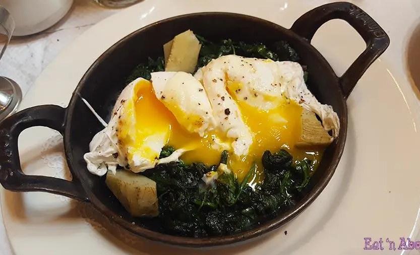 Balthazar Restaurant - Eggs Florentine