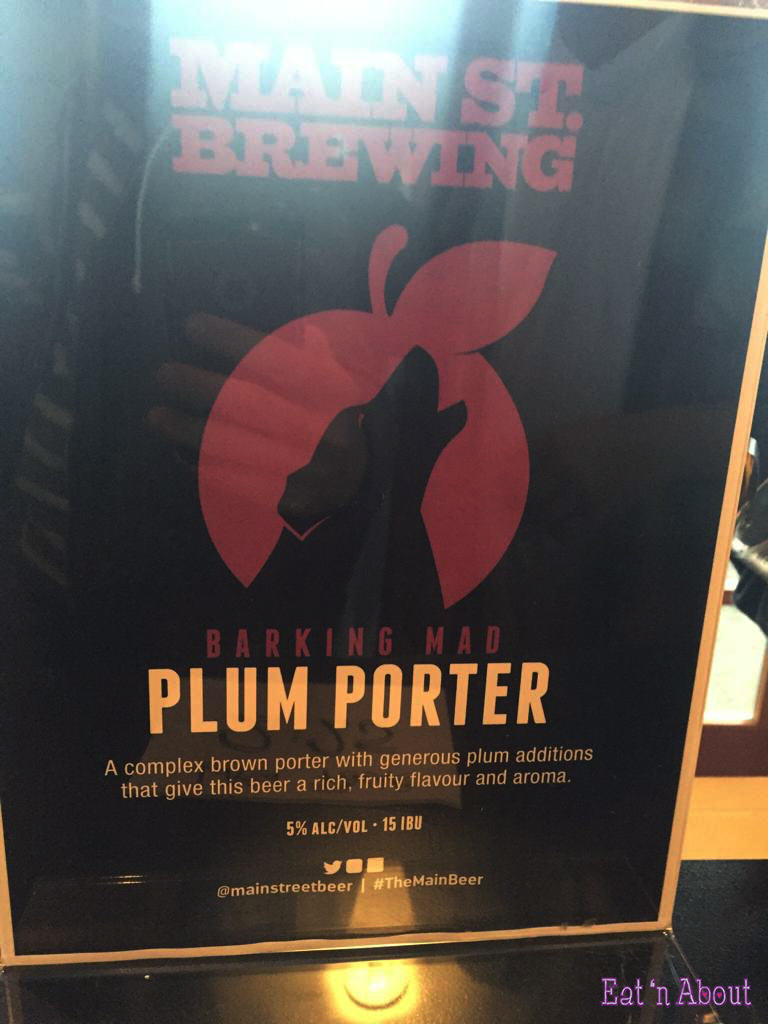 "Main Street Brewing ""Barking Mad Plum Porter"""
