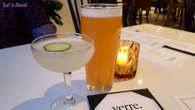 Verre Restaurant - Sencha Quencha Cocktail