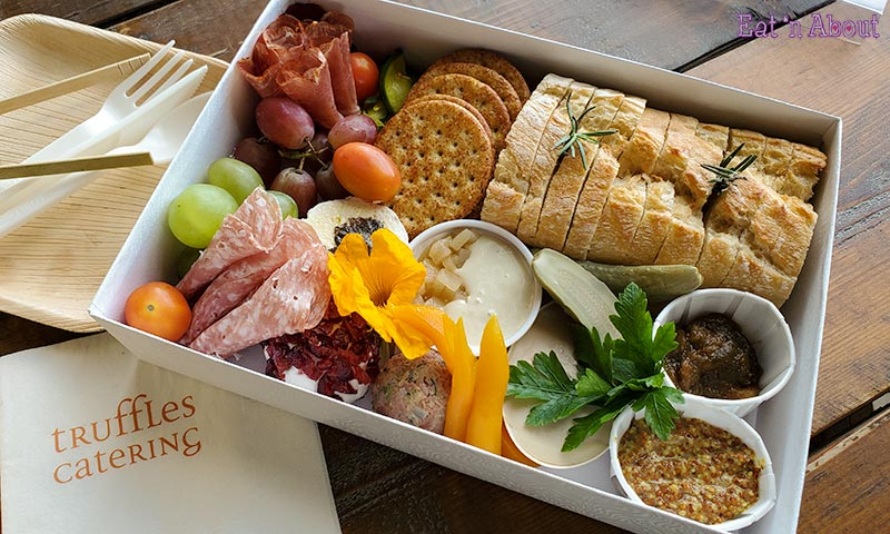Picture of the Raised & Cultured Grazing box from Truffles Catering