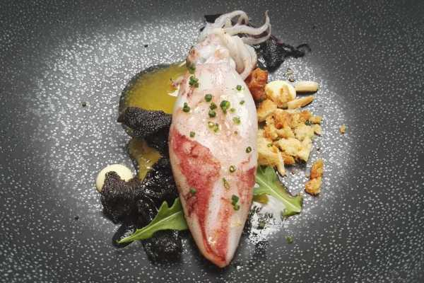 squid dish michelin star food