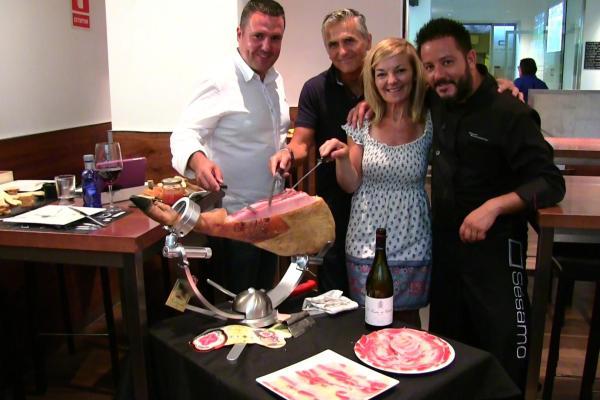 jamon iberico tasting ham carving master in León Northern Spain