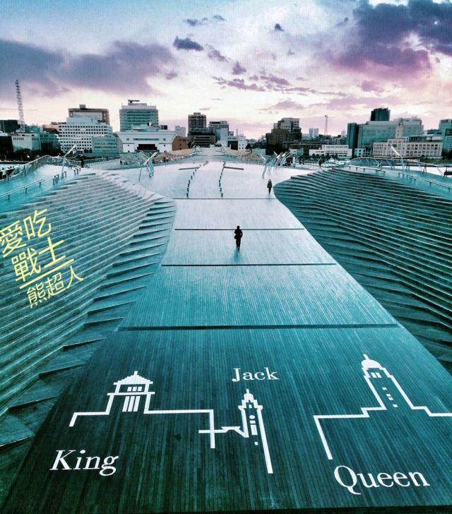 。神奈川 橫濱。大棧橋碼頭:約會聖地,看著越夜越美麗的橫濱夕陽。