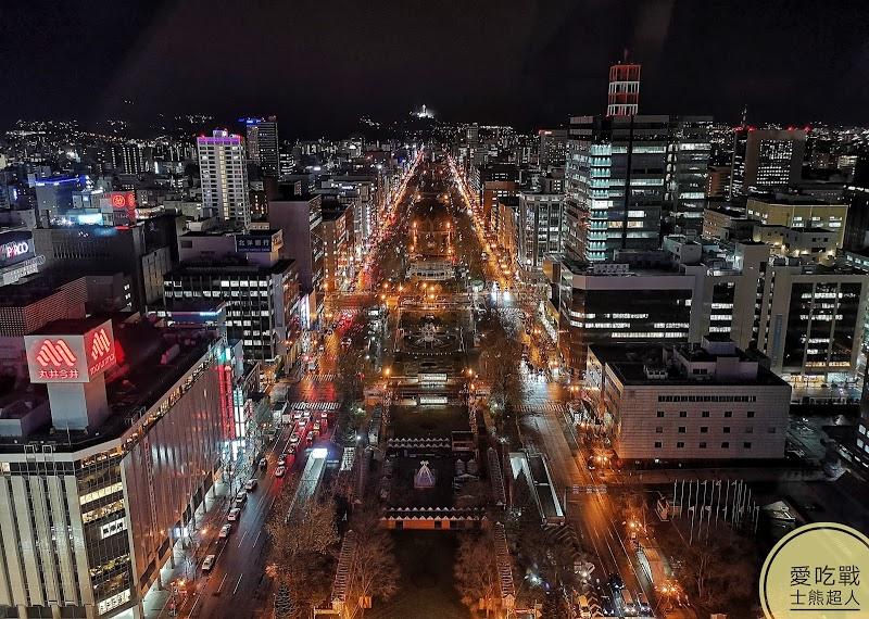 。北海道 札幌。札幌電視台-大通公園必逛的札幌市中心地標,欣賞360度的札幌夜景