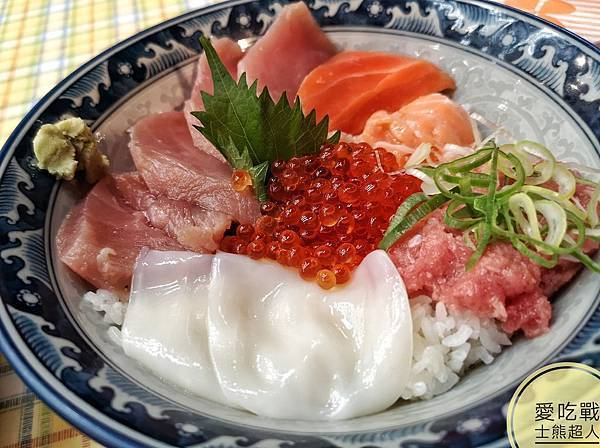 。東京 上野。みなとや海鮮丼+肉的大山:上野必吃的高CP值人氣美食,海鮮丼+和牛肉餅。