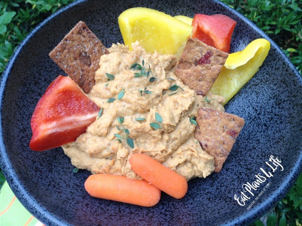 Sweet Potato Hummus (Yummus) | Eat Plants 4 Life