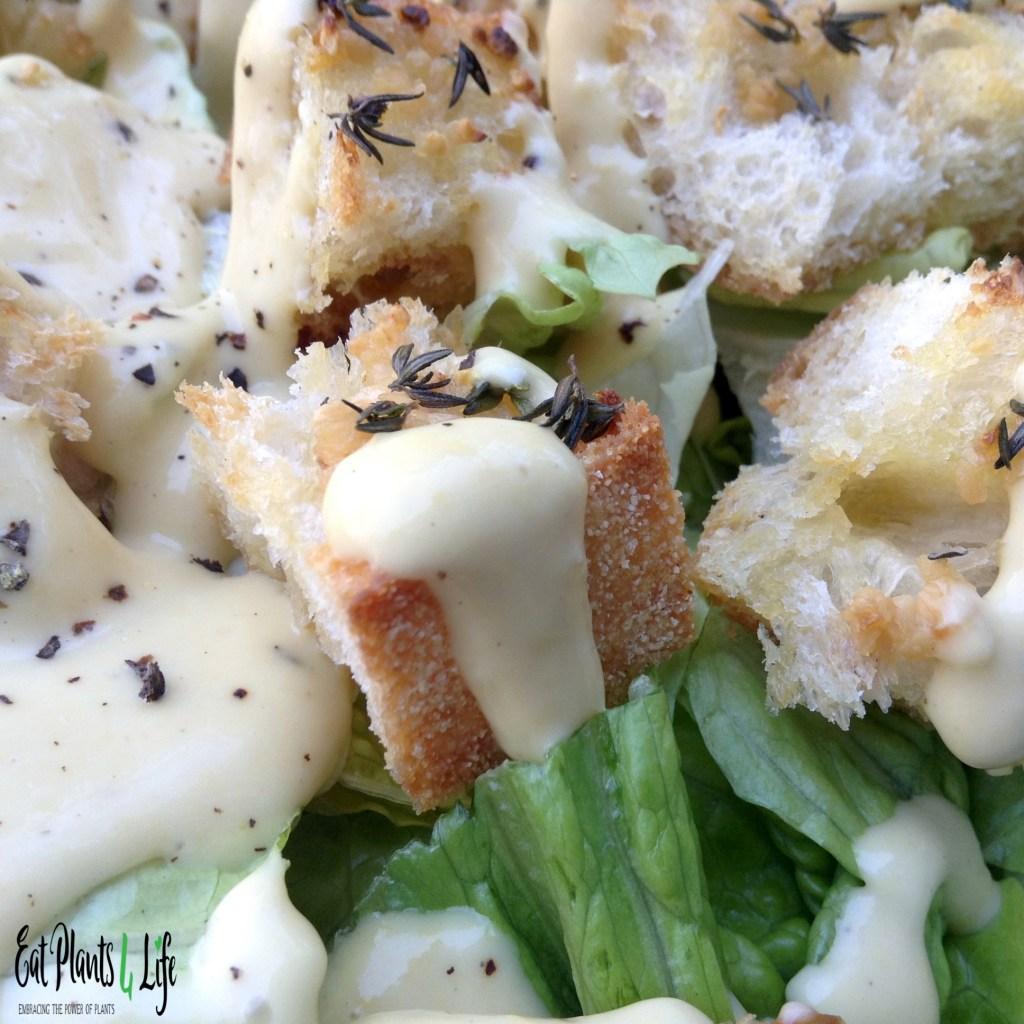 Salad Dressing Purgatory: Creamy Vegan Caesar Dressing 5